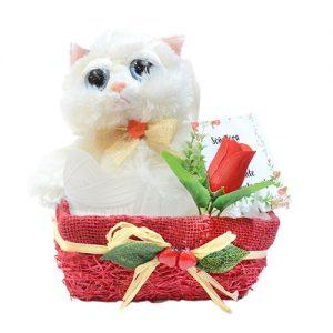 Peluche gato florres