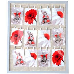 marco con fotos polaroid