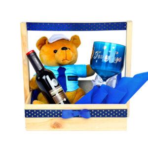 Caja sorpresa feliz con oso