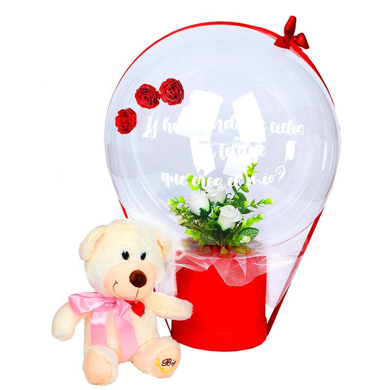 Peluche y globo personalizado