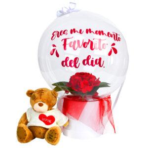 oso con globo personalizado